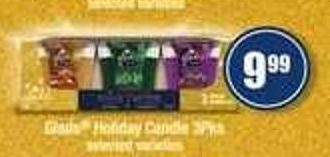 Glade Holiday Candle - 3pks