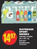 Gatorade Sport Drinks - 24 X 591 mL