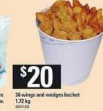 36 Wings And Wedges Bucket