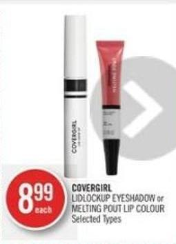 Covergirl Lidlockup Eyeshadow or Melting Pout Lip Colour