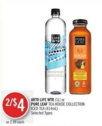 Arto Life Wtr (1l) or Pure Leaf Tea House Collection Iced Tea (414ml)