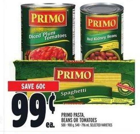 Primo Pasta - Beans Or Tomatoes