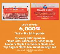 Maple Leaf - Schneiders - Ready Crisp Bacon Or Maple Leaf Ham Or Maple Leaf Top Dogs Or Maple Leaf Meat Sausage Roll