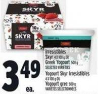 Irresistibles Skyr 4 X 100 g Or Greek Yogourt 500 g