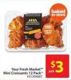Your Fresh Market Mini Croissants 12 Pack