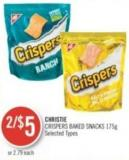 Christie Crispers Baked Snacks 175g