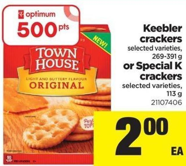 Keebler Crackers - 269-391 G Or Special K Crackers - 113 G