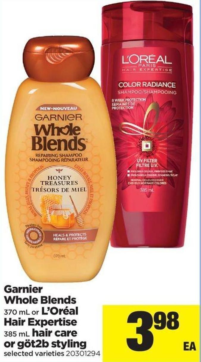Garnier Whole Blends - 370 Ml Or L'oréal Hair Expertise - 385 Ml Hair Care Or Göt2b Styling