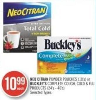 Neo Citran Powder Pouches (10's) or Buckley's Complete Cough - Cold & Flu Products (24's -40's)