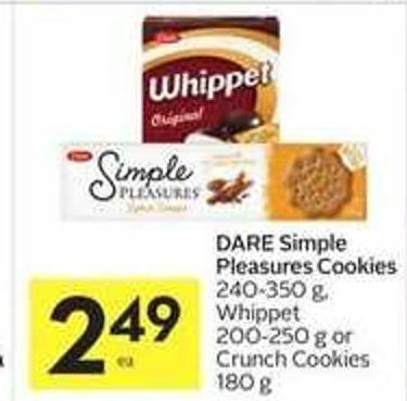 Dare Simple Pleasures Cookies