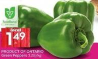 Product Of Ontario Green Peppers