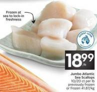 Jumbo Atlantic Sea Scallops