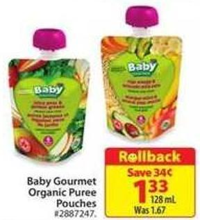 Baby Gourmet Organic Puree Pouches
