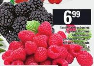 Family Size Rasberries Or Sweet Karoline Blackberries - 340 G