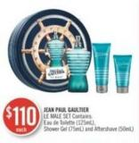 Jean Paul Gaultier Le Male Set Contains : Eau De Toilette (125 Ml) - Shower Gel (75ml) And Aftershave (50ml)