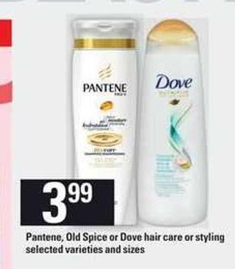 Pantene - Old Spice Or Dove Hair Care Or Styling