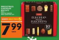 Irresistibles European Biscuits