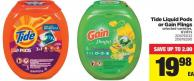 Tide Liquid PODS Or Gain Flings - 61/81's