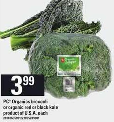 PC Organics Broccoli Or Organic Red Or Black Kale