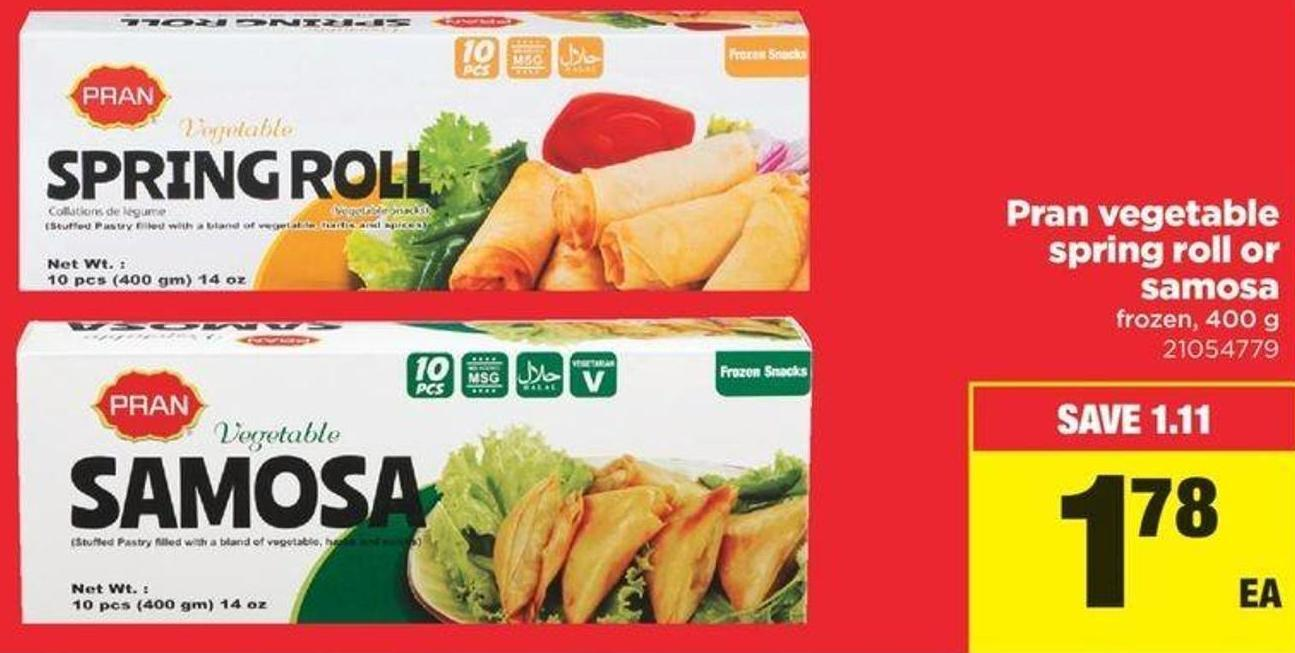 Pran Vegetable Spring Roll Or Samosa - 400 G