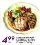 Korean Bbq Pork Loin Rib or Centre Chops