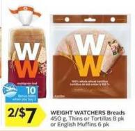 Weight Watchers Breads - 10 Air Miles Bonus Miles
