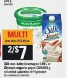 Silk Non-dairy Beverages - 1.89 L or Olympic Organic Yogurt - 325/650 g