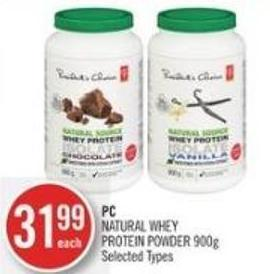 PC Natural Whey Protein Powder