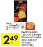 Dare Cookies 125-300 g - Simple Pleasures Cookies 300-350 g or Whippet 200-250 g