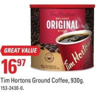 Tim Hortons Ground Coffee - 930g