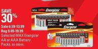 Energizer Selected Max Energizer Aa or Aaa Battery Packs