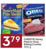 Christie Honey Maid or Oreo Baking Crumbs