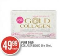 Pure Gold Collagen Liquid 10 X 50 Ml