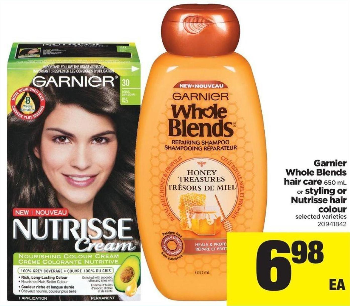 Garnier Whole Blends Hair Care 650 Ml Or Styling Or Nutrisse Hair Colour