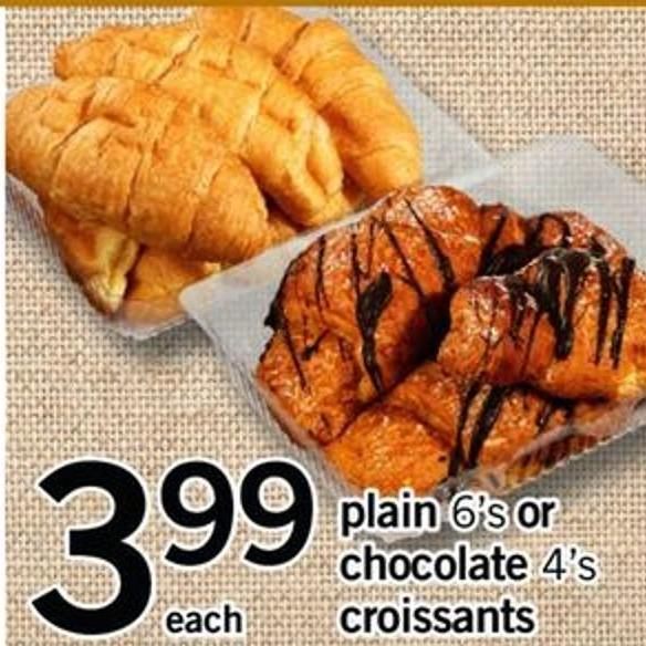 Plain - 6's Or Chocolate - 4's Croissants