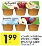 Compliments or Compliments Balance Apple Snacks 6 Pk