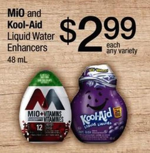 Mio And Kool-aid Liquid Water Enhancers - 48 Ml