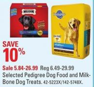 Selected Pedigree Dog Food and Milk-bone Dog Treats