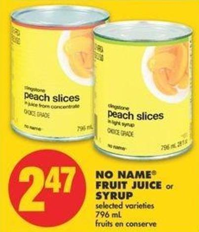 No Name Fruit Juice Or Syrup - 796 Ml