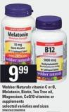 Webber Naturals Vitamin C Or B - Melatonin - Biotin - Tea Tree Oil - Magnesium - Coq10 Vitamins Or Supplements