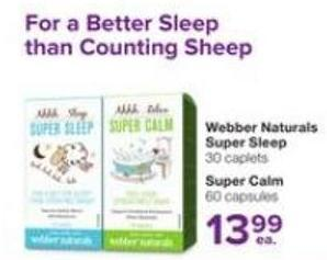 Webber Naturals Super Sleep 30 Caplets - Super Calm 60 Capsules