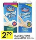 Blue Diamond Almond Milk 946 ml