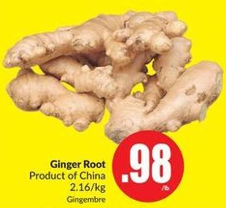 Ginger Root Product of China 2.16/kg
