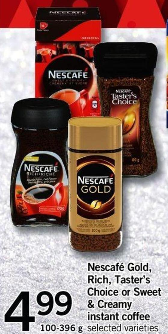 Nescafé Gold - Rich - Taster's Choice Or Sweet & Creamy Instant Coffee - 100-396 G