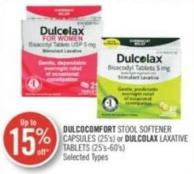 Dulcocomfort Stool Softener Capsules (25's) or Dulcolax Laxative Tablets (25's-60's)