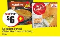 St-hubert or Swiss Chalet Pies Frozen 675-800 g
