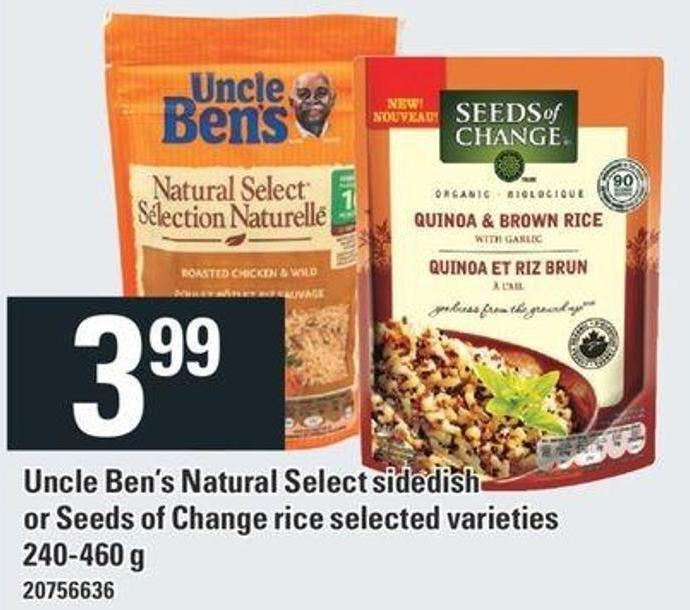Uncle Ben's Natural Select Sidedish Or Seeds Of Change Rice - 240- 460 G