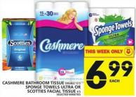 Cashmere Bathroom Tissue Double Or Sponge Towels Ultra Or Scotties Facial Tissue