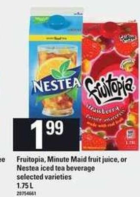 Fruitopia - Minute Maid Fruit Juice - Or Nestea Iced Tea Beverage - 1.75 L
