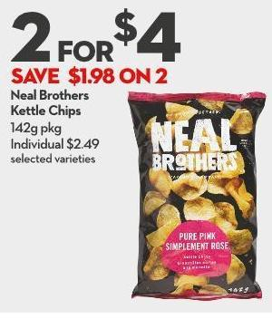 Neal Brothers  Kettle Chips 142g Pkg